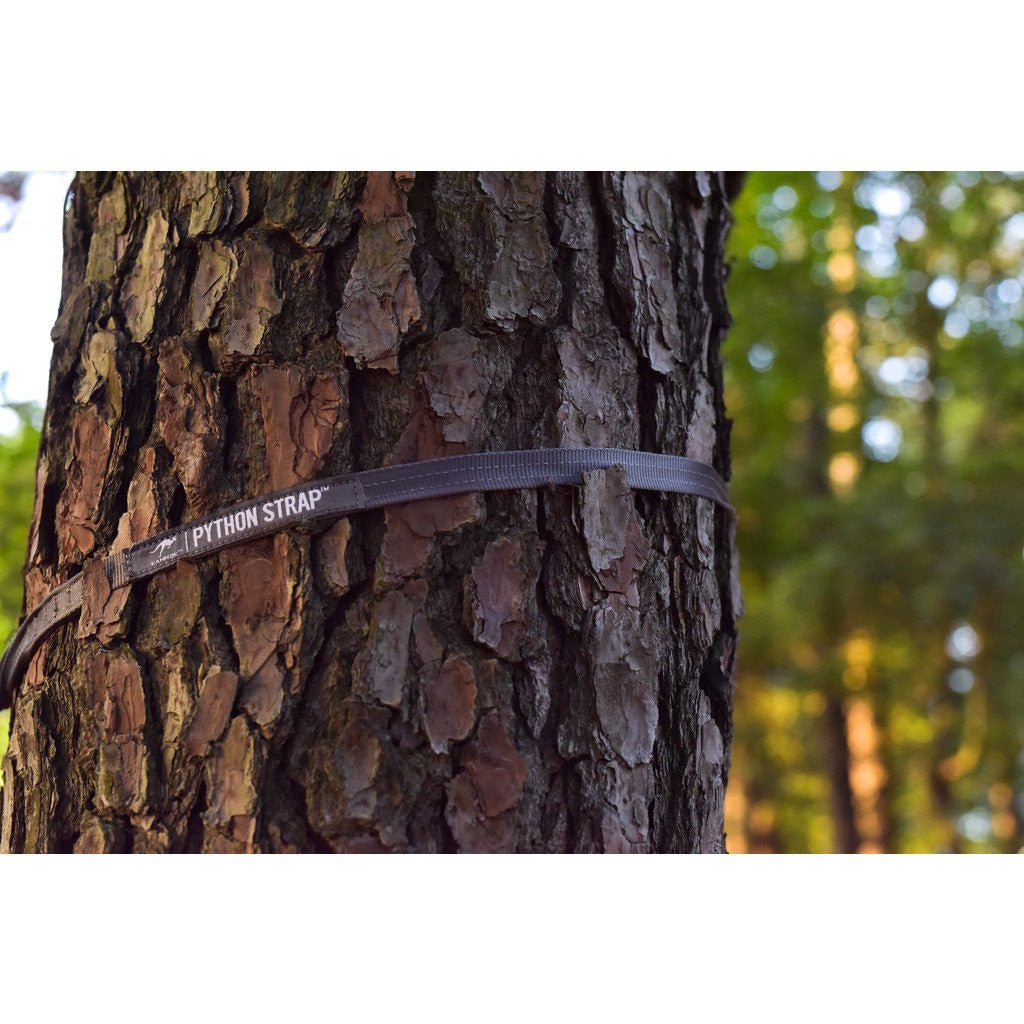 Kammok Python Tree Attachment Straps for Hammock | Stone Gray
