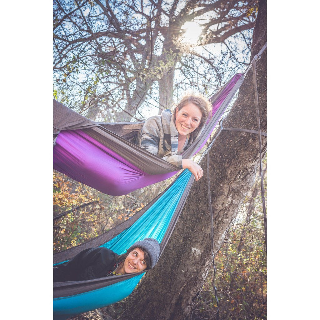 Kammok Roo Outdoor Hammock | Half Moon Purple/Stone Gray