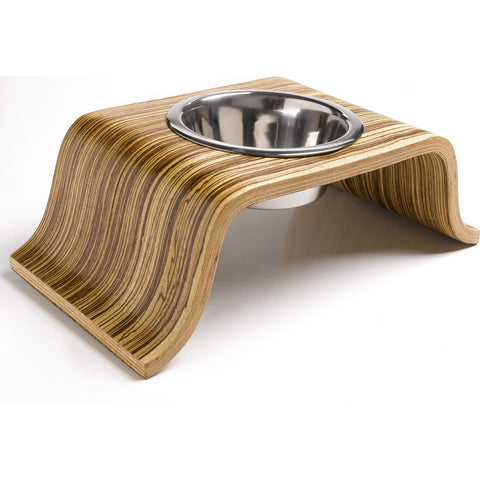 Roxiedoggie Little Bend Single Dog Bowl | Zebrawood SBHZ