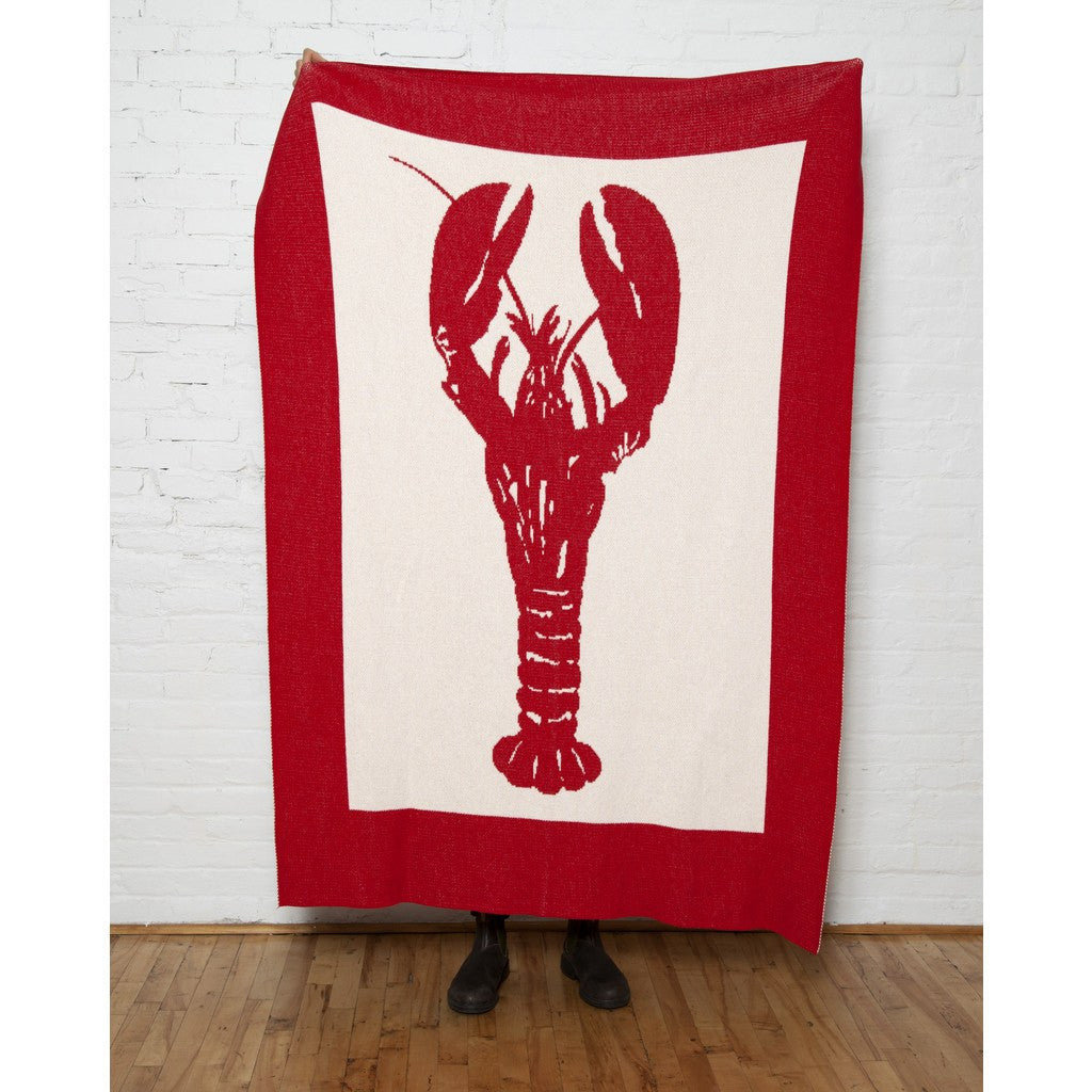 in2green Lobster Eco Throw | Milk/Cherry BL01LR3