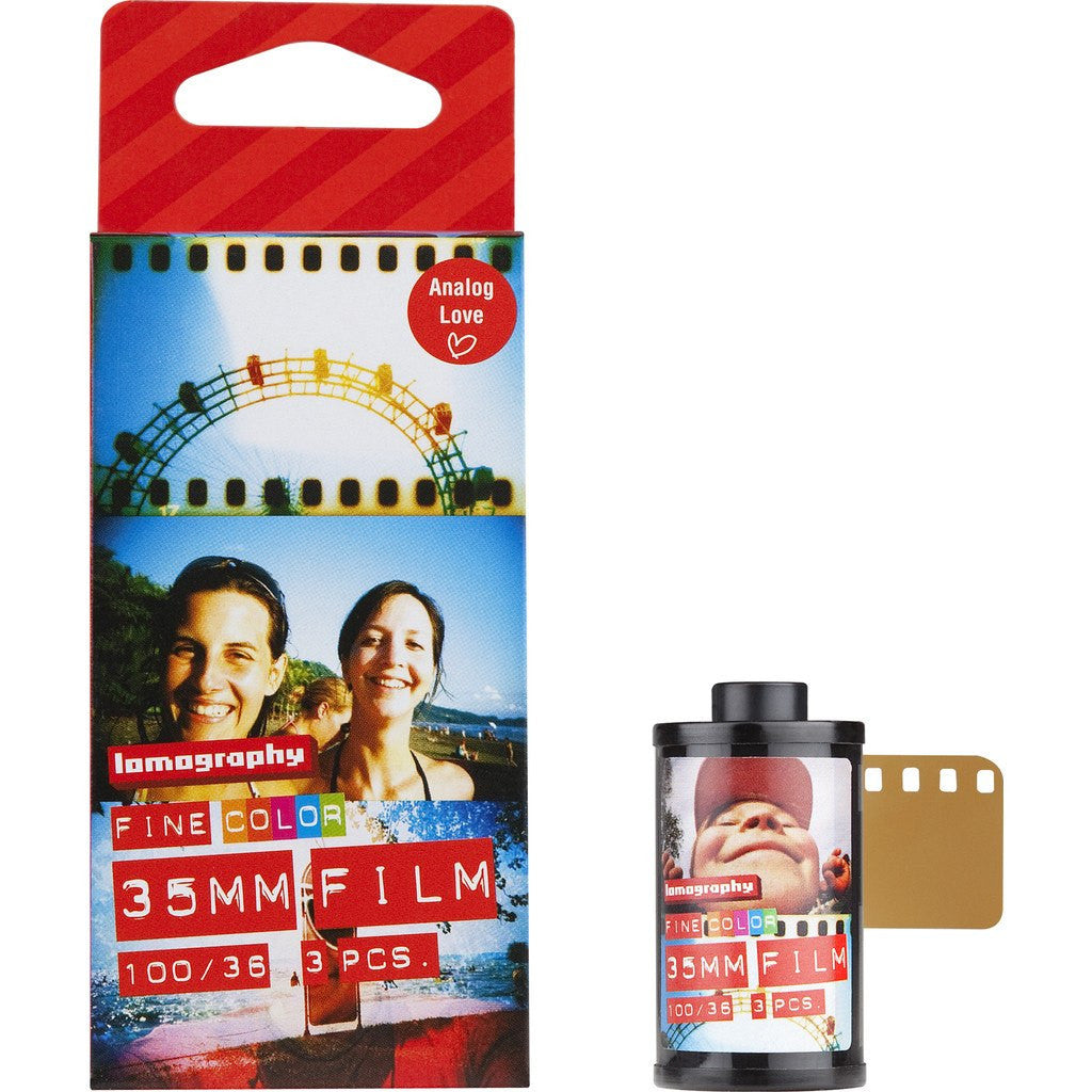 Lomography Color Negative 100/135/36 Film | 3-Pack F136BW3