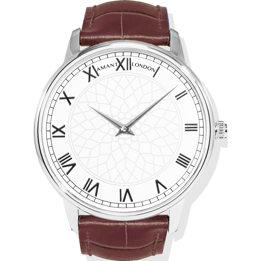 AMANT London Silver Watch | Sienna Brown