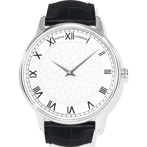 AMANT London Silver Watch | Black