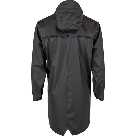 RAINS Waterproof Long Jacket | Black 1202 S/M
