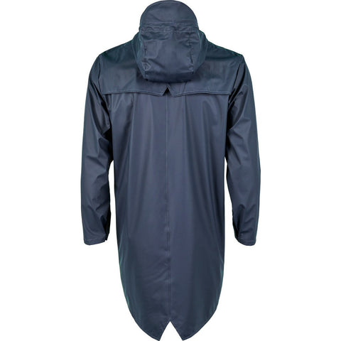 RAINS Waterproof Long Jacket | Blue 1202 S/M