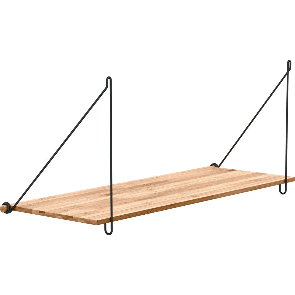 We Do Wood Loop Shelf | Black Steel - 02030610