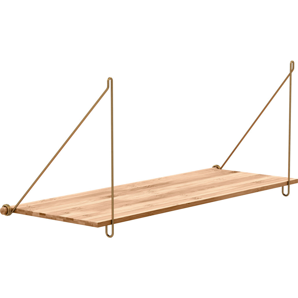 We Do Wood Loop Shelf | Brass- 02030609