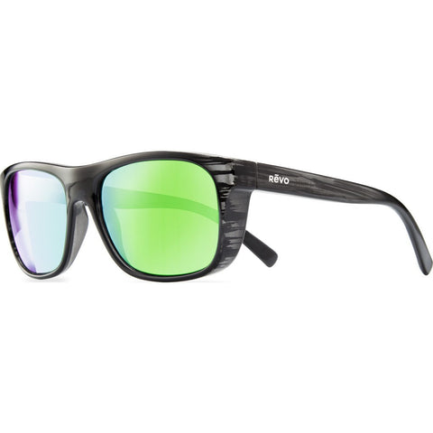 Revo Eyewear Lukee Black Woodgrain Sunglasses | Green Water RE 1020 01 GN