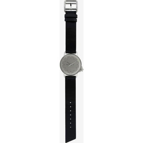 Miansai M12 Stainless Steel Swiss Watch | Black Leather 106-0002