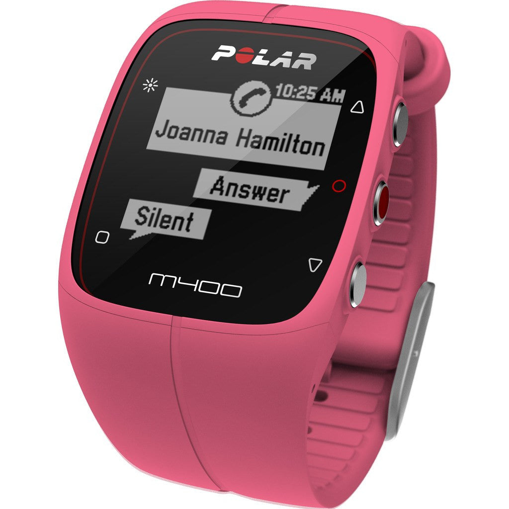 Polar M400 GPS Activity Tracker Watch HR Bundle | Pink