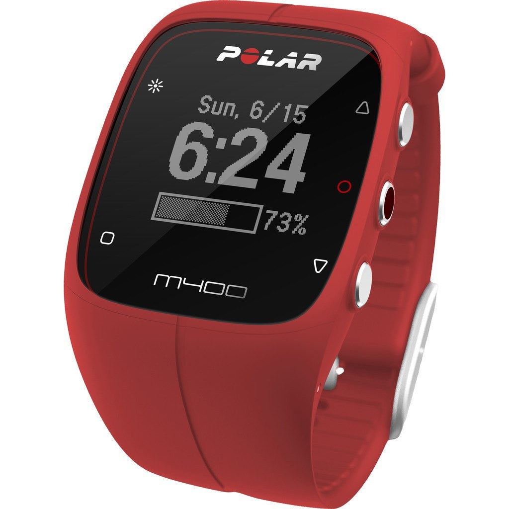 Polar M400 GPS Activity Tracker Watch HR Bundle Red ...