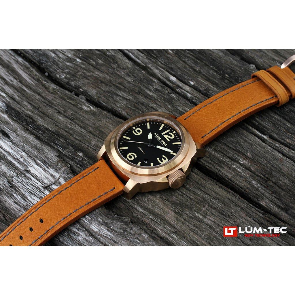 Lum-Tec M53 Bronze Watch | Leather Strap