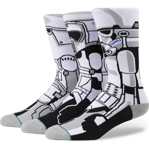 Stance Trooper Men's Socks | White Large M545D15TRO