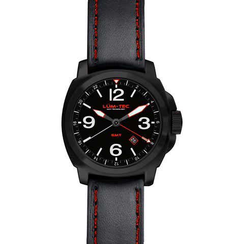 Lum-Tec M59 GMT Watch | Leather Strap