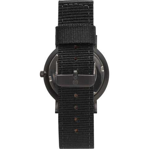 Shore Projects Morecambe Wtach with Classic Strap | Black / Charcoal S036B