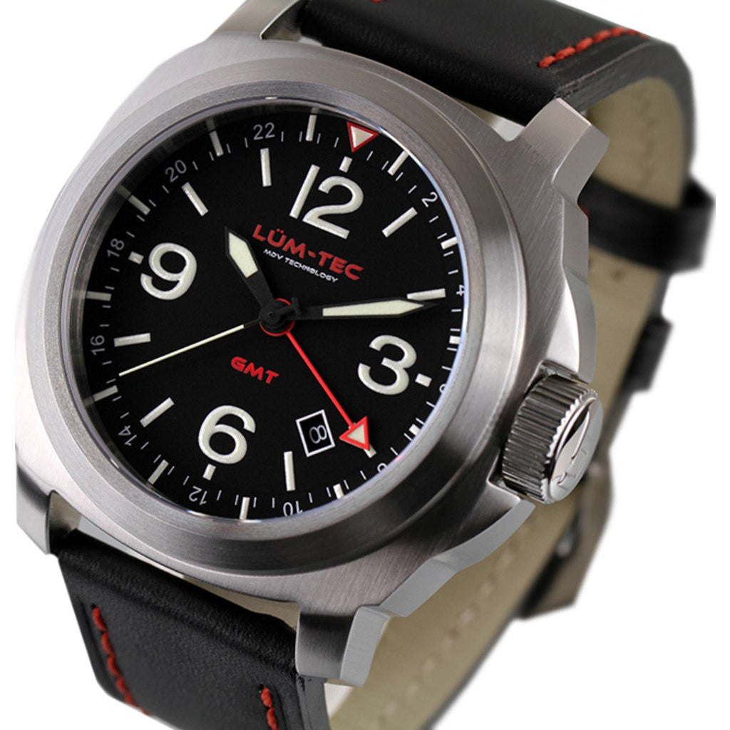Lum-Tec M60 GMT Watch | Leather Strap