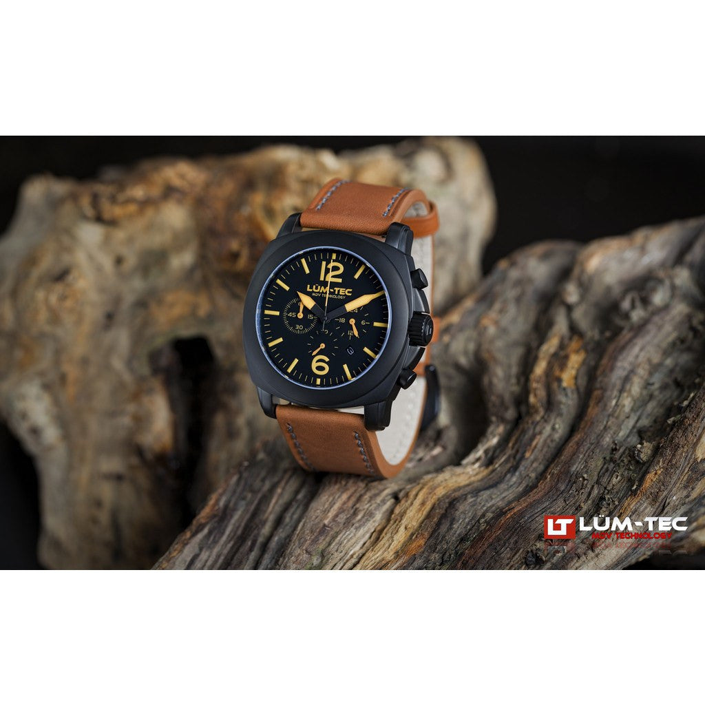 Lum-Tec M73 Watch | Leather Strap