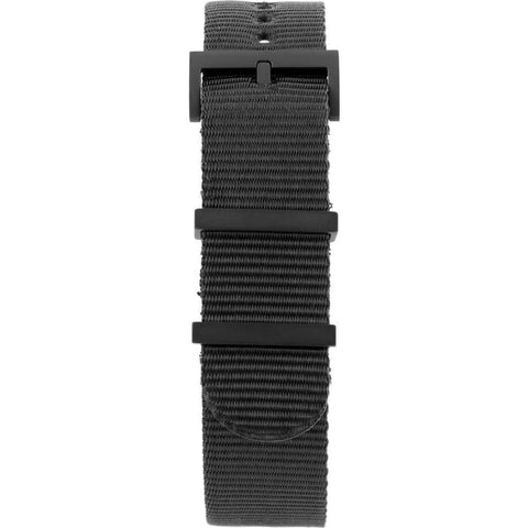 Minus-8 Anza Black Nylon Watch Strap | Black Hardware P024-017-Strap-B