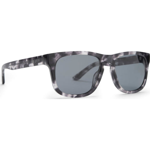 DIFF Eyewear Riley Sunglasses | Black Marble + Grey Polarized