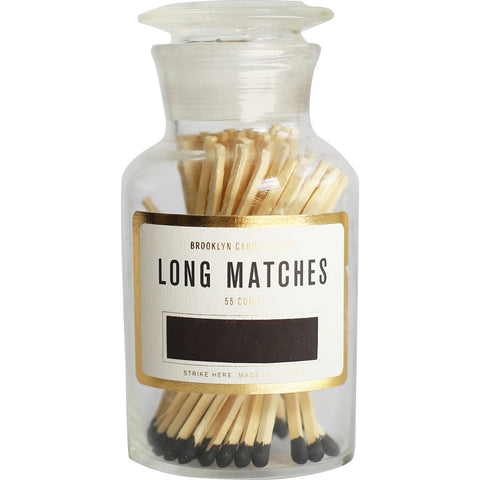 Brooklyn Candle Studio Apothecary Match Bottle | Black