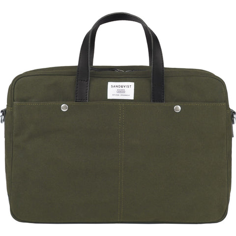 Sandqvist MATS Briefcase | Waxed Olive SQA751