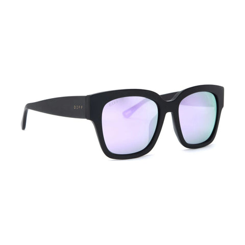 Diff Eyewear Bella Ii Sunglasses | Matte Black + Lavender Flash Lens