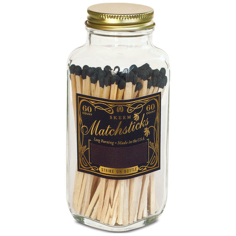 Skeem Design Black + Gold Classic Vintage Matches- MB10