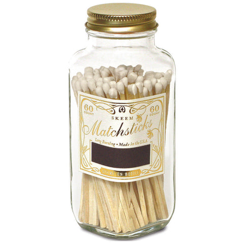 Skeem Design White + Gold Classic Vintage Matches- MB4