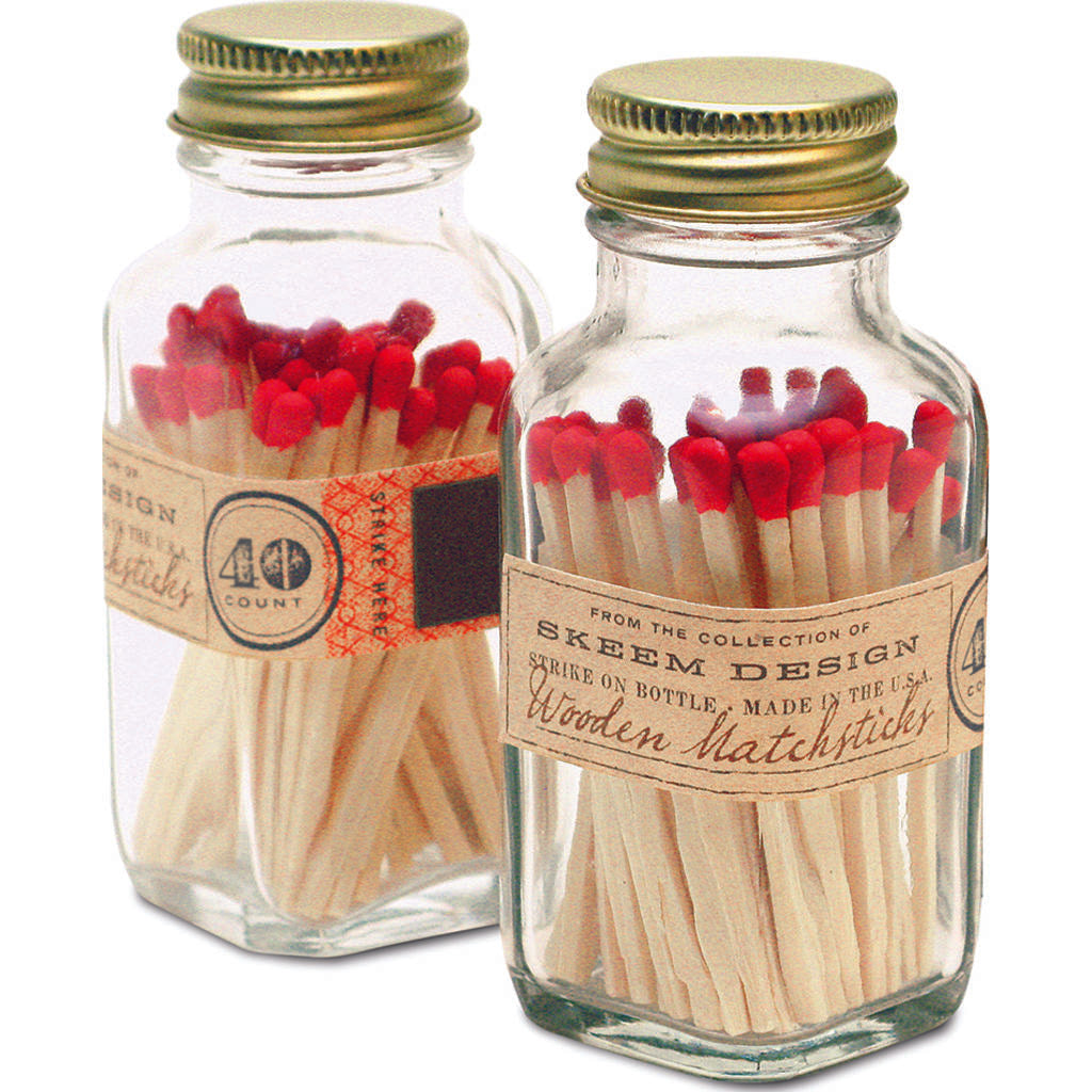 Skeem Mini Vintage Match Bottles | 40 matches  Antique MBM