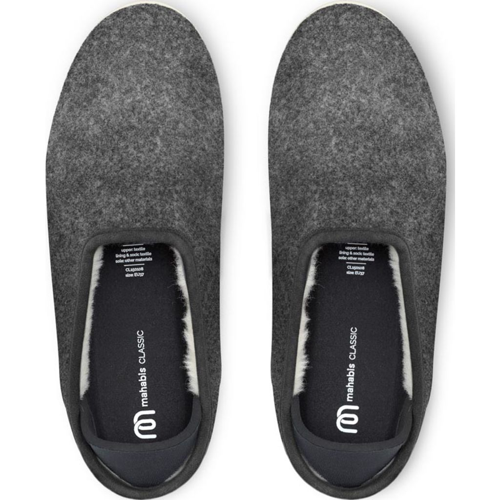 Mahabis Classic 2 Slippers | Dark Grey/Ivory