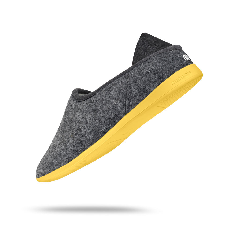 Mahabis Classic 2 Slippers | Dark Grey/Yellow