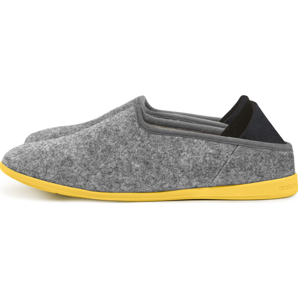 Mahabis Classic 2 Slippers | Larvik Light Grey/Skane Yellow