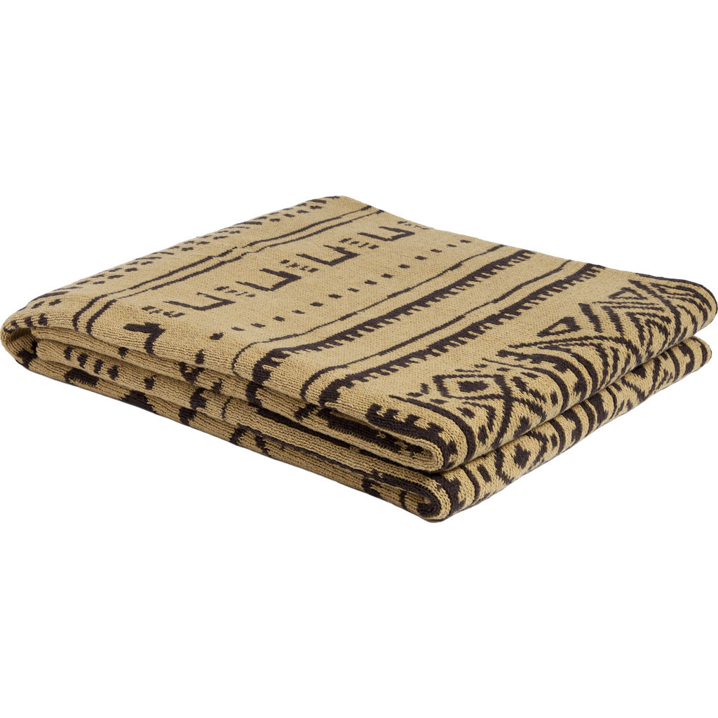 in2green Reversible Mudcloth Throw | Straw/Coffee BL02RMC5