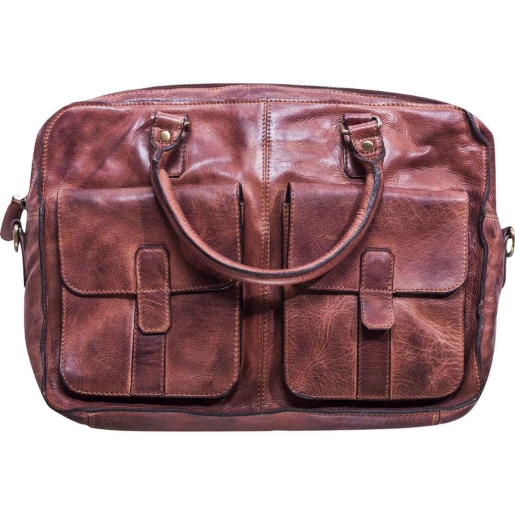 Kiko Leather Commuter Briefcase | Brown