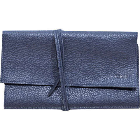 Kiko Leather Jewelery Roll | Dark Blue