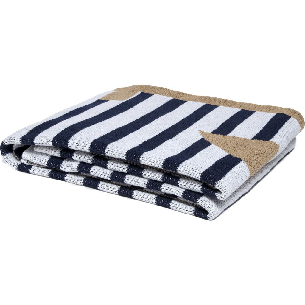 in2green Poly French Stripe Throw | Anchor Poly-FR01