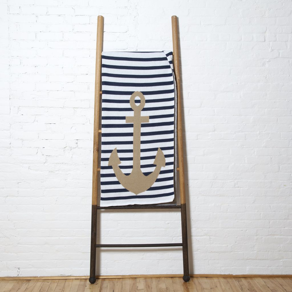 in2green Poly French Stripe Throw | Anchor Poly-FR02