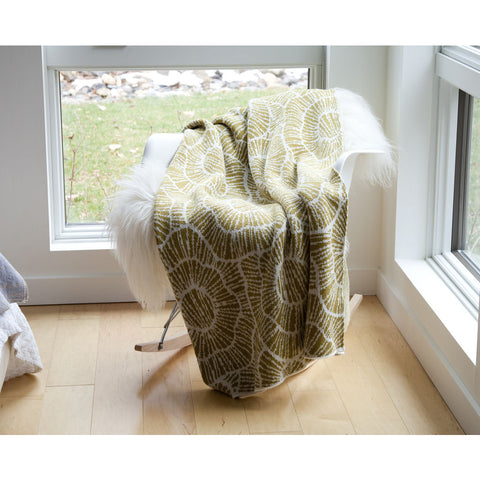 Stacy Garcia Poppy Eco Throw | Moss/Milk- SG-PY03