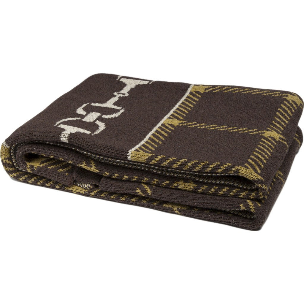 in2green Horse Bit Plaid Eco Throw | Chocolate/Moss/Flax BL01HBP1