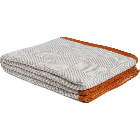 in2green Poly Woven Squares Throw | Cargo/Orange POLY-WS7