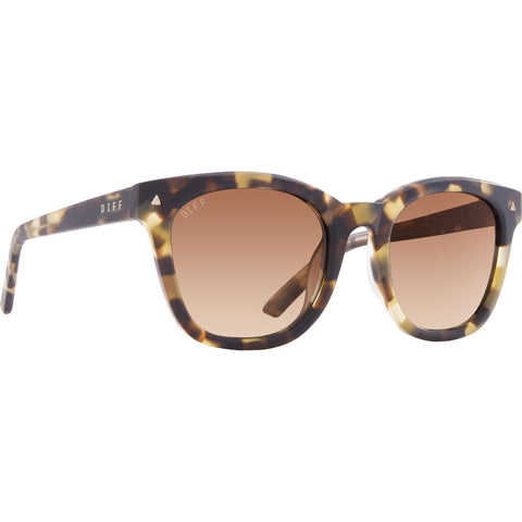 DIFF Eyewear Ryder Sunglasses | Matte Moss Havana + Brown Gradient + Polarized
