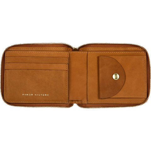 Minor History Coupe Zip Wallet | Oiled Saddle CER_138_A