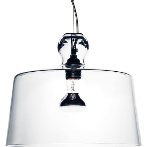Produzione Privata Acquatinta XL Pendant Lamp| Transparent Murano Glass- ML-ACTRXL