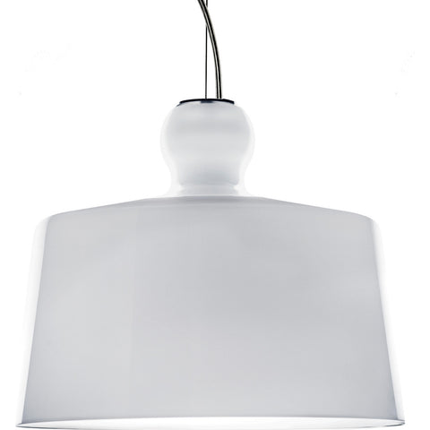Produzione Privata Acquatinta XL Pendant Lamp | White Glazed Murano Glass- ML-ACWHXL