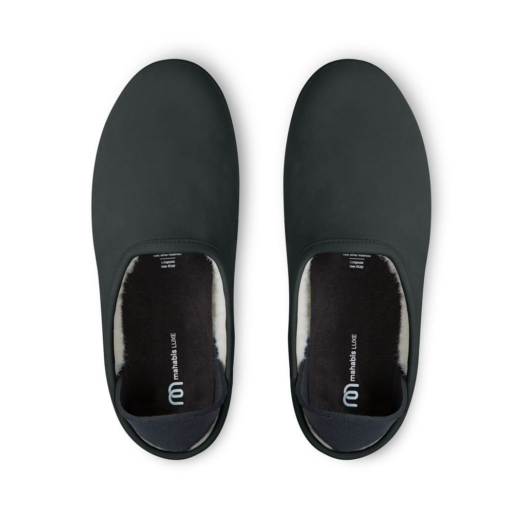 Mahabis Luxe Slipper & Detachable Sole | Black