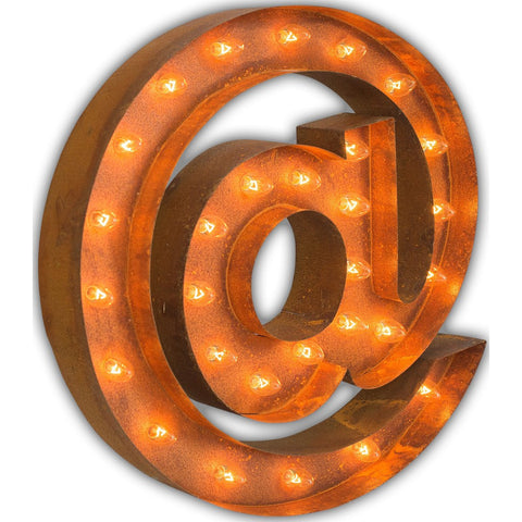 "Vintage Marquee Lights 24"" @ At Sign Decorative Light 