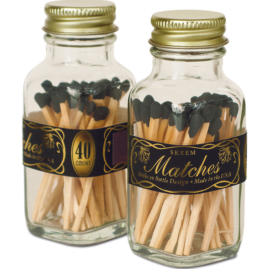 Skeem Mini Vintage Match Bottles | 40 matches  Black Bold MM6