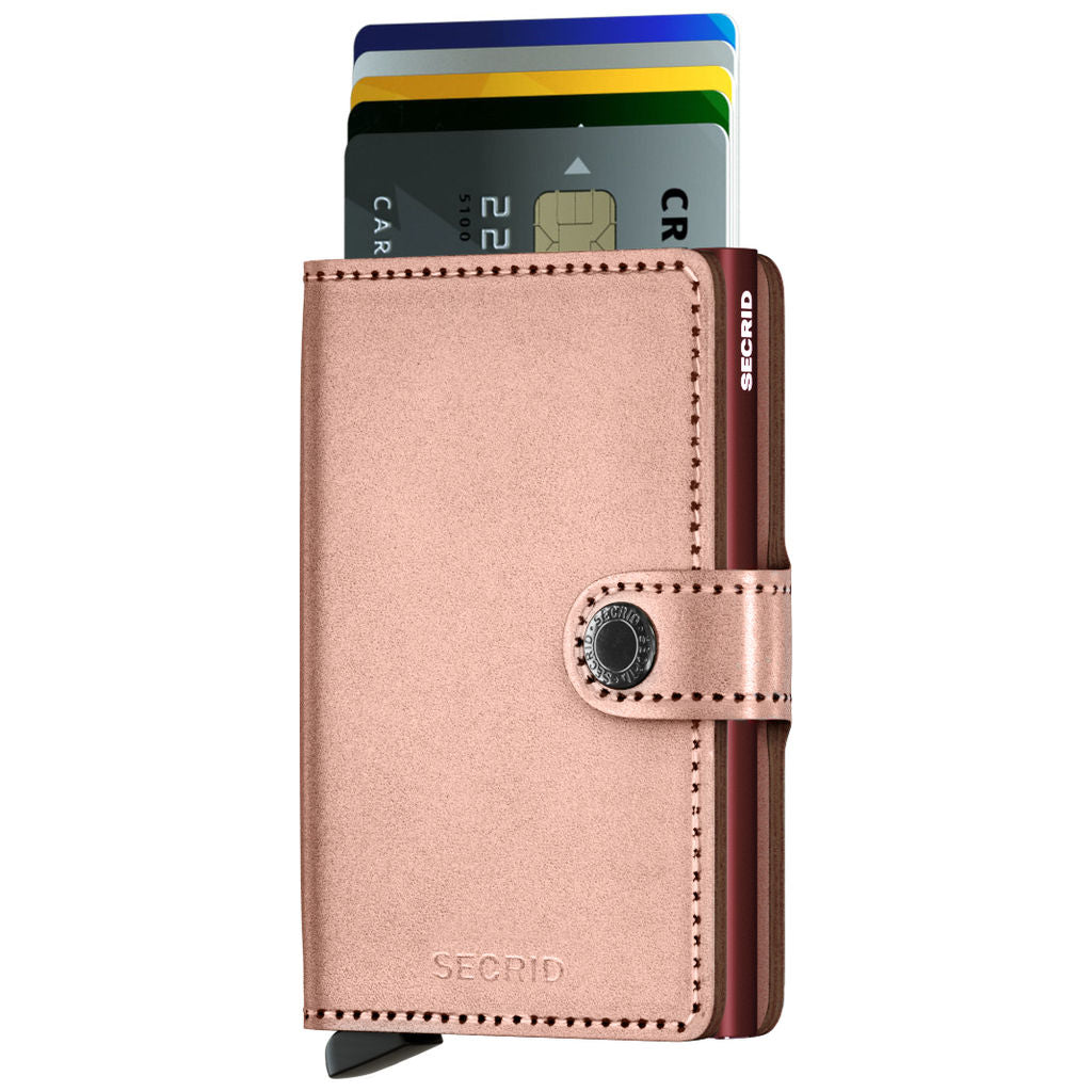 Secrid Mini Wallet | Metallic Rose