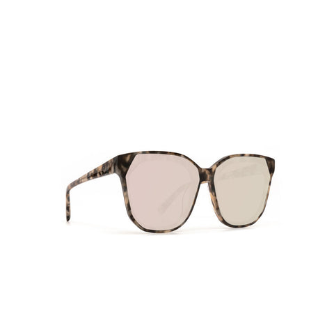 Diff Eyewear Gia Sunglasses | Non Polarized Mocha Tortoise + Taupe Flash
