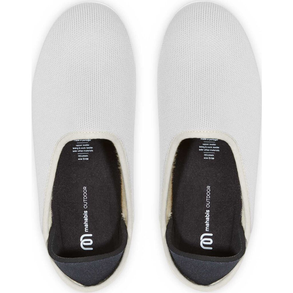 Mahabis Wool Lined Outdoor Slippers | Koge Grey
